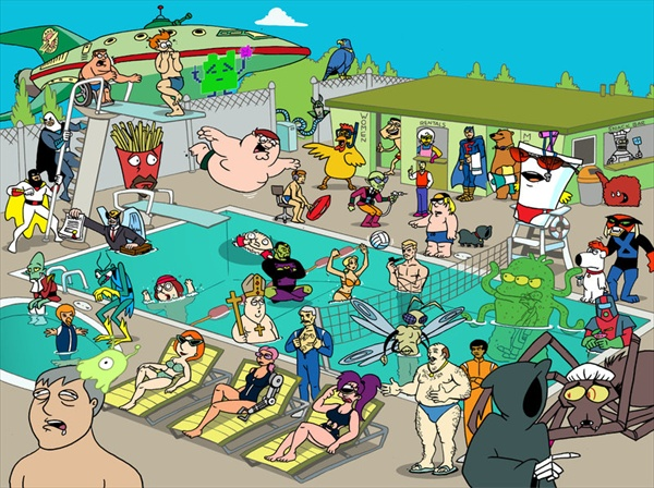 adult swim beach party